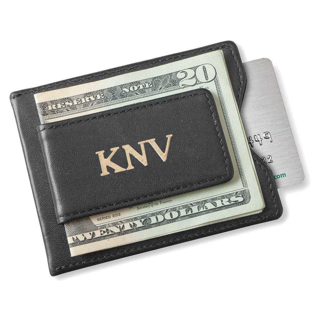 Personalized Wallet - Magnetic Money Clip - Black | JDS