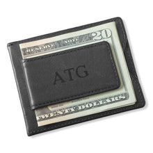 Load image into Gallery viewer, Personalized Wallet - Magnetic Money Clip - Black | JDS