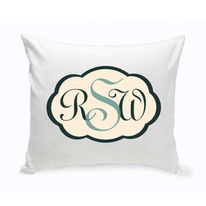 Personalized Baby Monogrammed Bermuda Blue Chevron Throw Pillow | JDS