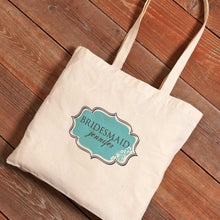 Load image into Gallery viewer, Personalized Canvas Tote - Bridesmaid | JDS