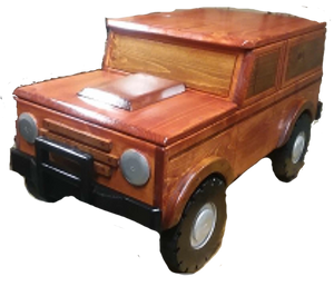 Custom Carved Wooden Bronco Toy Box / Personalized License Plate with Childs Name | DG Custom Graphics