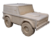 Load image into Gallery viewer, Custom Carved Wooden Bronco Toy Box / Personalized License Plate with Childs Name | DG Custom Graphics