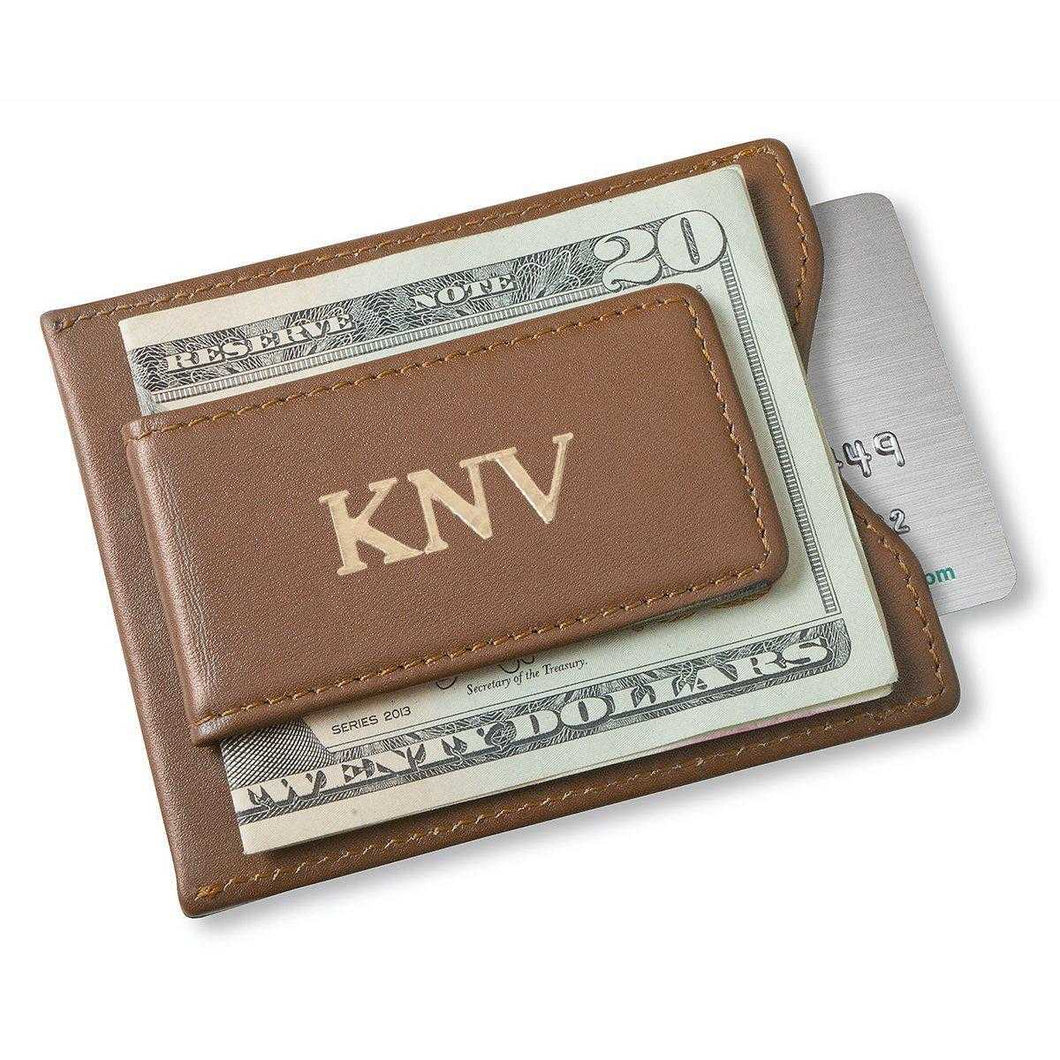 Personalized Brown Wallet - Magnetic Money Clip & Wallet - Brown | JDS