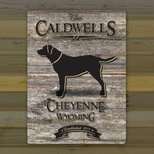Load image into Gallery viewer, Personalized Weathered Wood Welcome to the Lake Canvas Sign | JDS