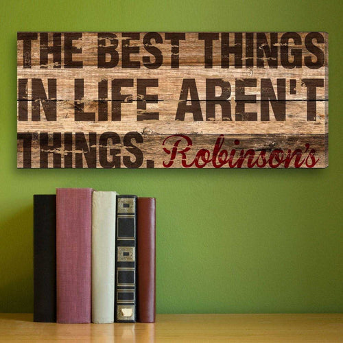 Best Thing In Life Personalized Canvas Print | JDS