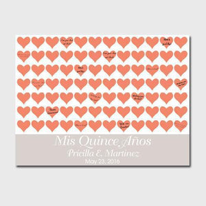 Personalized Quiceanera Canvas - Poppy Hearts | JDS