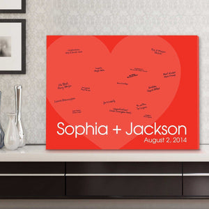 Personalized Guestbook Canvas - I Love You! | JDS