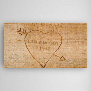 Personalized Cupid's Arrow Canvas Sign | JDS