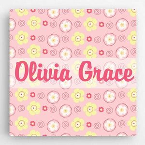 Personalized Pattern Girl Canvas Sign | JDS