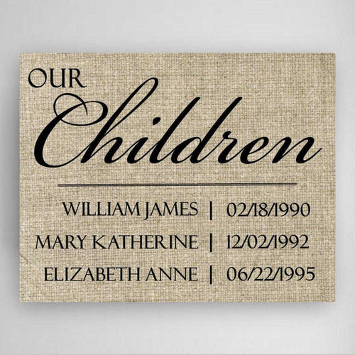 Personalized Our Children Canvas Sign | JDS