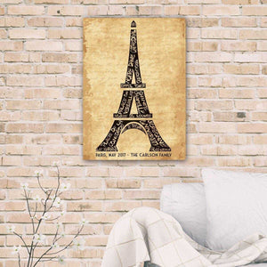Personalized Eiffel Tower Canvas | JDS