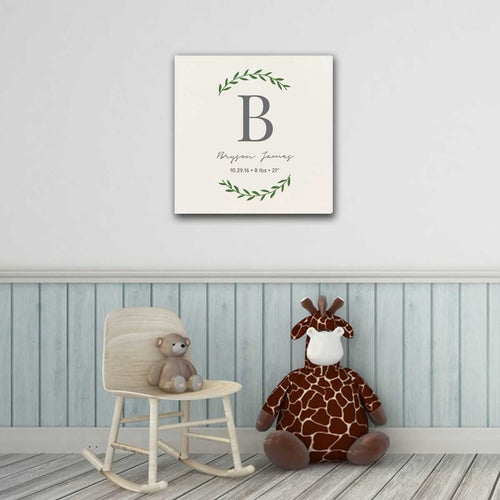 Personalized Baby's Monogram Vine 18