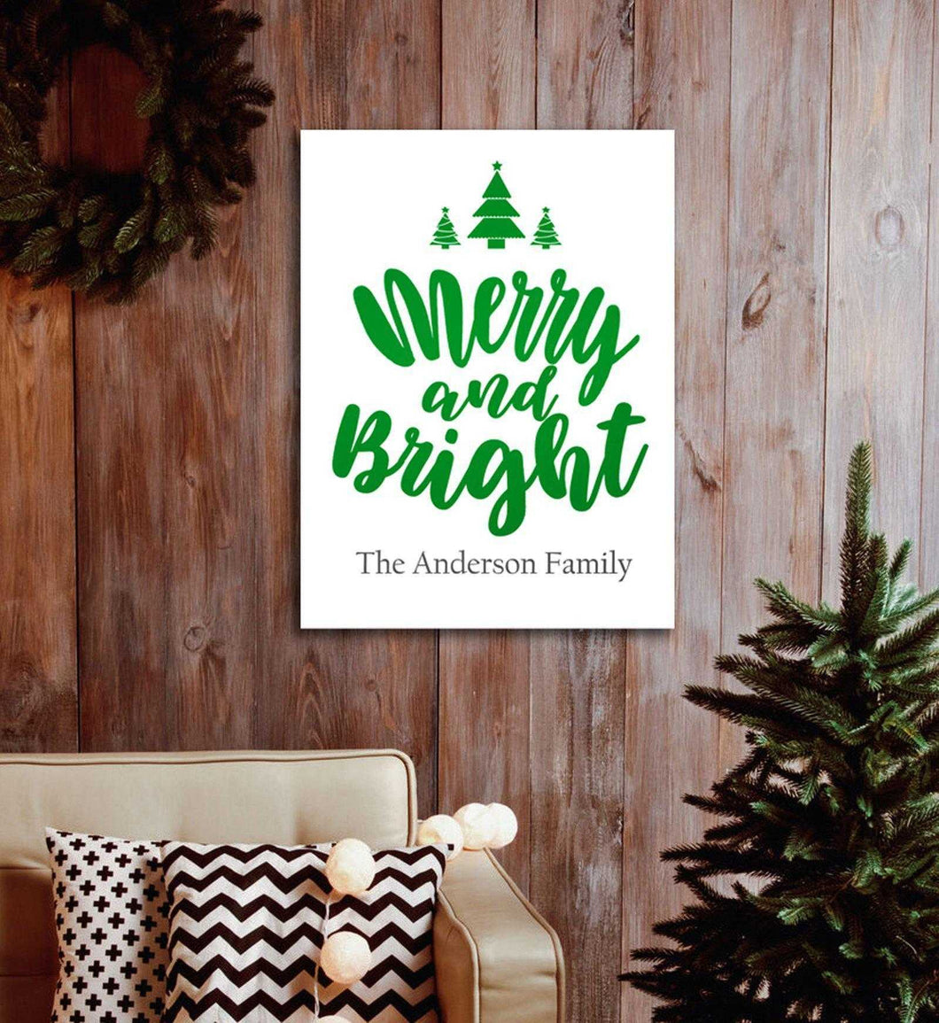 Personalized Christmas Canvas - Merry & Bright | JDS