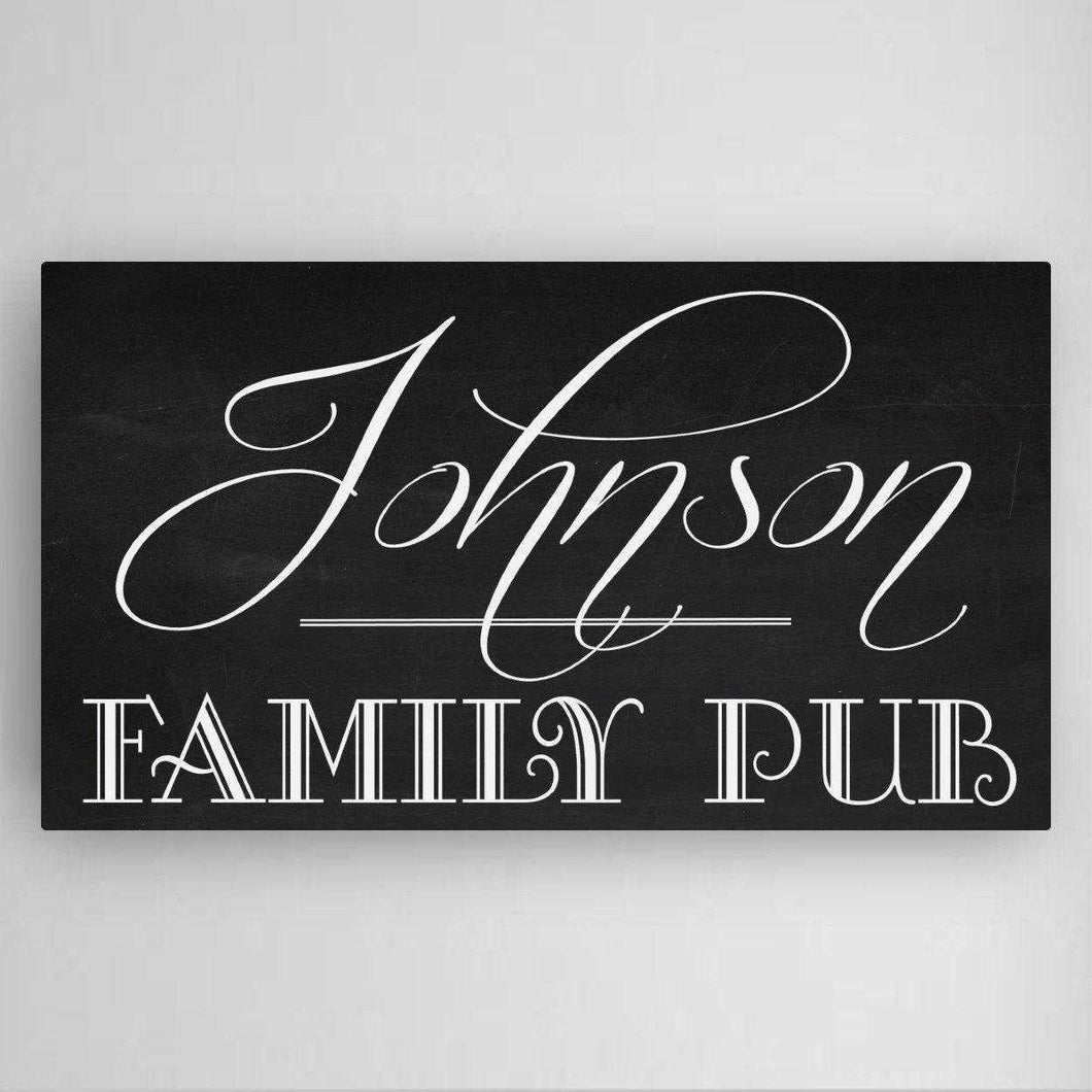 Personalized Family Pub Canvas Sign | JDS
