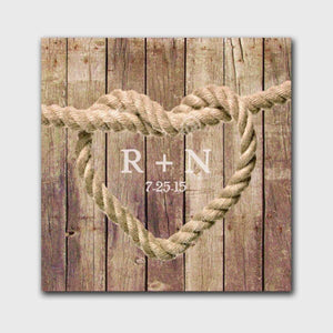 Personalized Knot Canvas Print | JDS