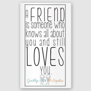 Personalized Friends Canvas Sign | JDS