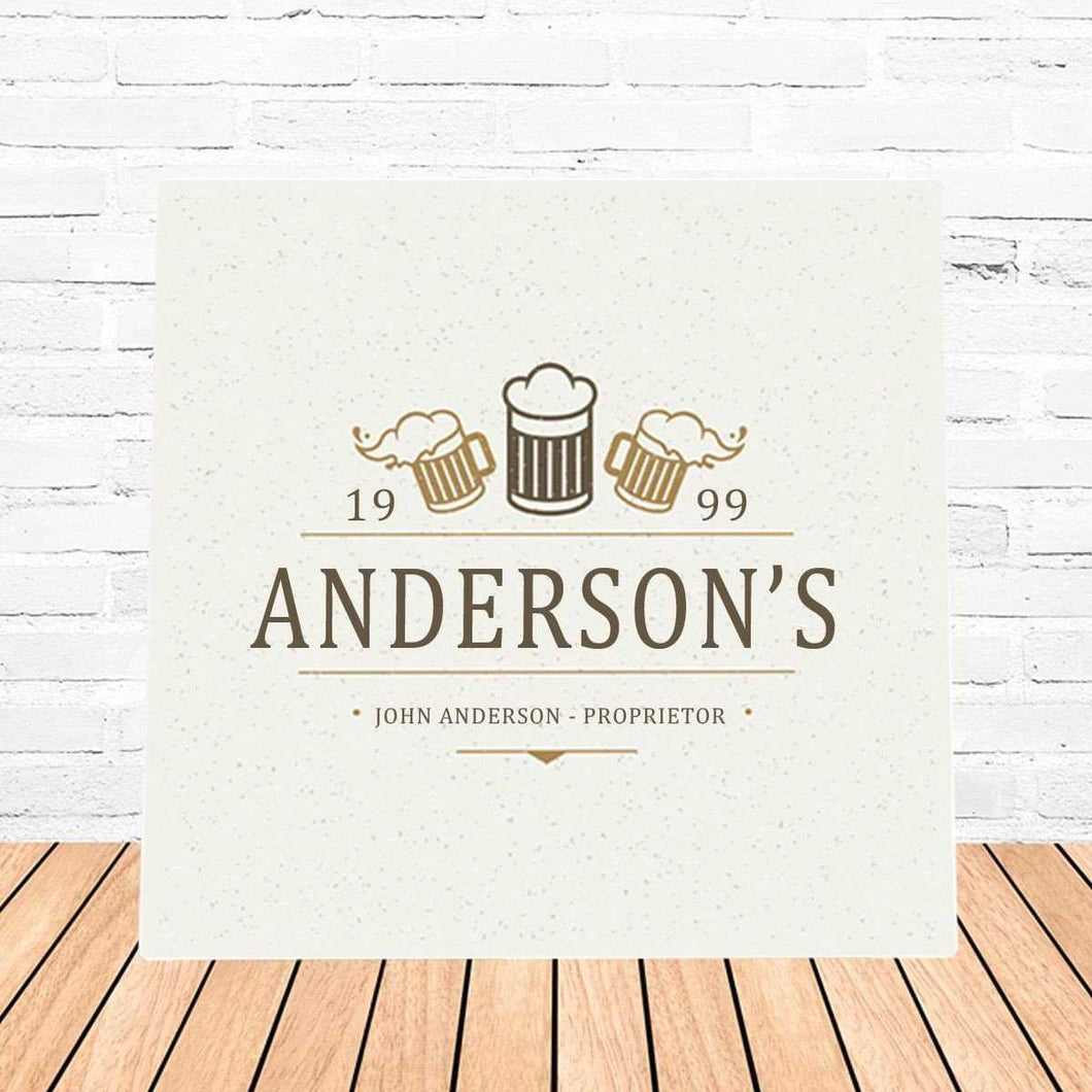 Personalized Beer Mugs Canvas Sign | JDS