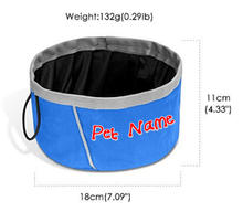 Load image into Gallery viewer, Custom Personalize Your Collapsible Pet/Dog/Cat Bowl with Pet Name or Text | DG Custom Graphics