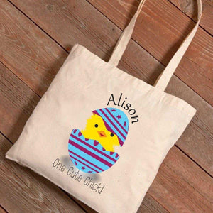 Personalized Easter Canvas Bag - Cute Chick | JDS