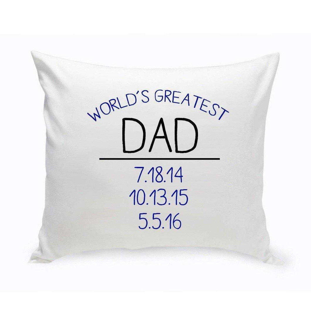 World's Greatest Dad Throw Pillow | JDS