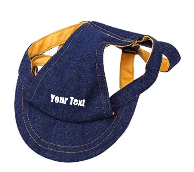 Custom Personalize Design Your Puppy Dog Denim Baseball Cap (Pet Clothing)
