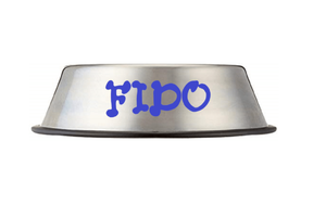Custom Personalize Your Stainless Steel Pet/Dog/Cat Bowl with Pet Name or Text