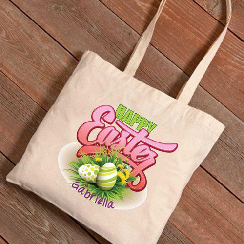 Personalized Easter Canvas Bag - Easter Bouquet | JDS