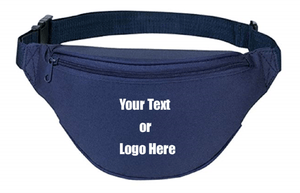 Custom Personalized 2 Zipper Quick Release Buckle Adjustable Waste Sport Fanny Pack | DG Custom Graphics