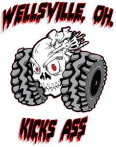 "Stickers ""Wellsville Kicks Ass"" 