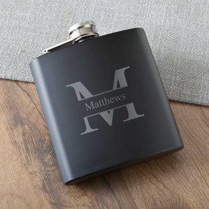 Personalized Flasks - Matte Black - Executive Gifts | JDS