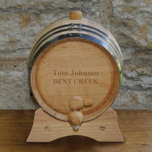 Load image into Gallery viewer, Personalized Whiskey Barrel - Bourbon - Oak - 2 Liter | JDS