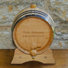 Load image into Gallery viewer, Personalized Whiskey Barrel - Oak - 2 Liter | JDS