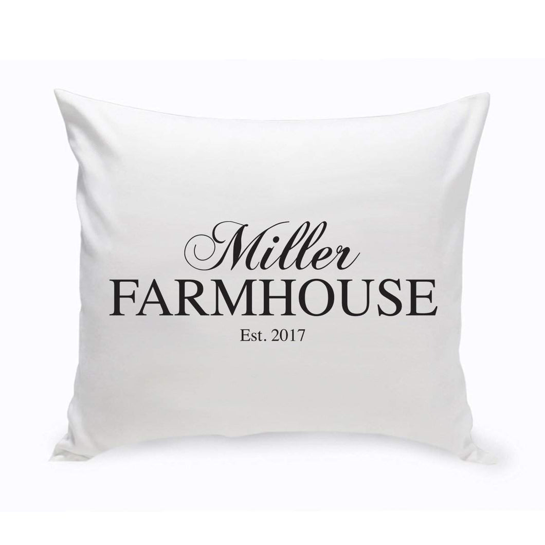 Personalized Modern Farmhouse Throw Pillow | JDS