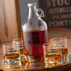 Personalized Whiskey Growler Set | JDS