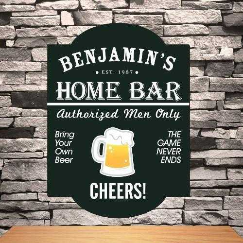 Personalized Classic Tavern Sign - Home Bar | JDS