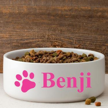 Personalized Large Dog Bowl - Happy Paws | JDS