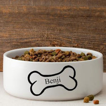 Load image into Gallery viewer, Personalized Large Dog Bowl - Bright Treats | JDS