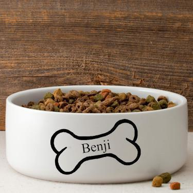 Personalized Large Dog Bowl - Bright Treats | JDS