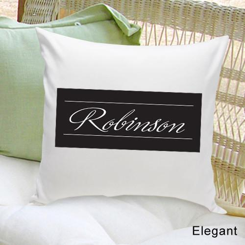 Personalized Family First Throw Pillow | JDS