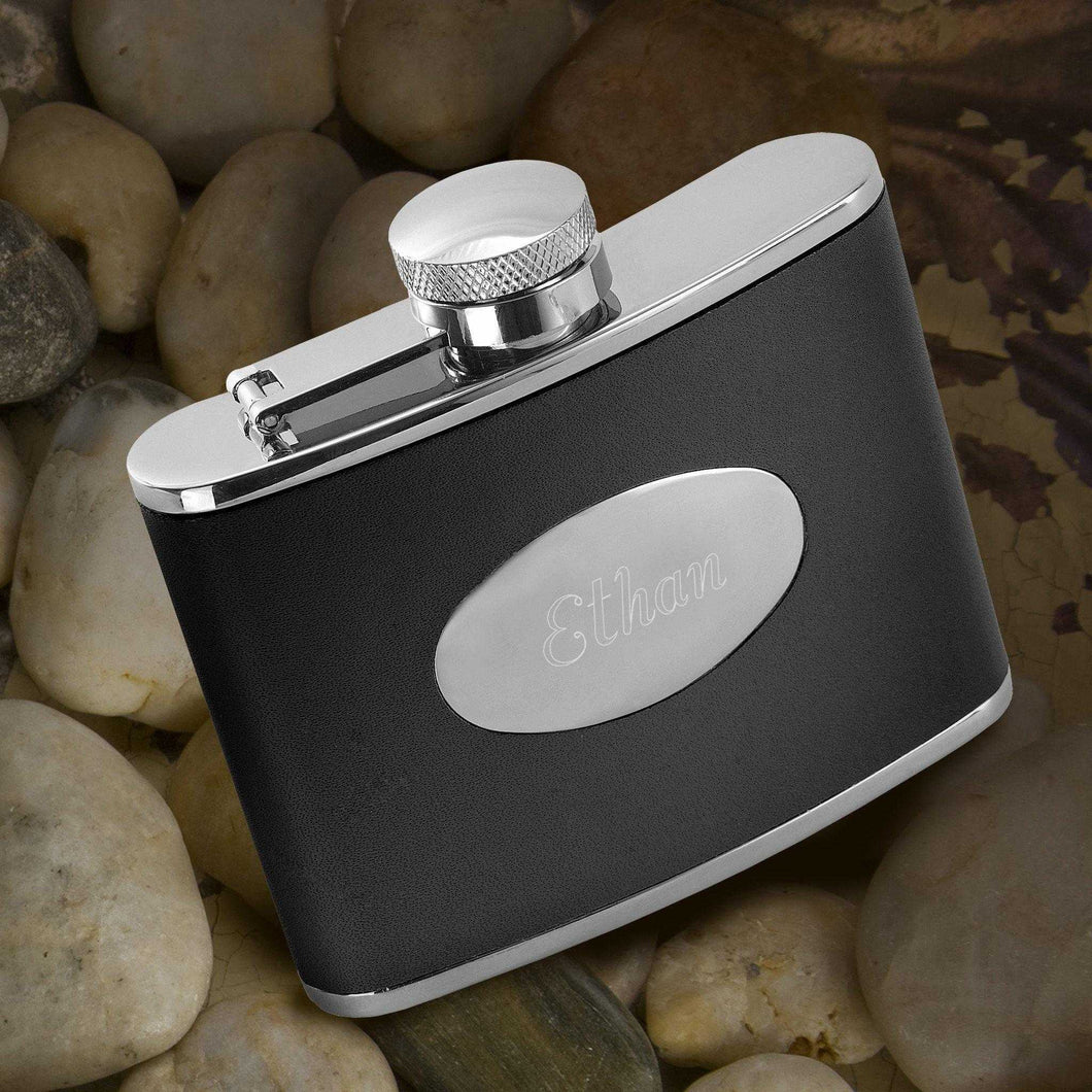 Personalized Flasks - Leather - Stainless Steel - Groomsmen Gifts | JDS
