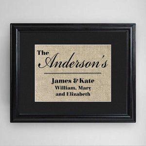 Personalized Our Family Framed Print | JDS