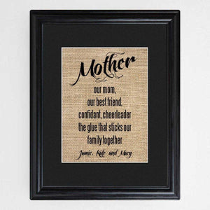 Personalized Mother's Framed Print | JDS