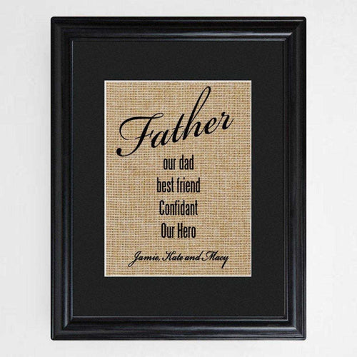 Personalized Our Dad Framed Print | JDS