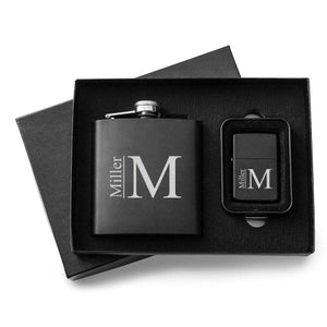 Personalized Flasks - Personalized Lighters - Gift Set | JDS