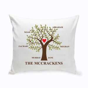 Personalized Family Tree Throw Pillow | JDS