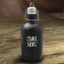 Load image into Gallery viewer, Personalized Growler - Beer - Stainless Steel - Black - 64 oz. | JDS