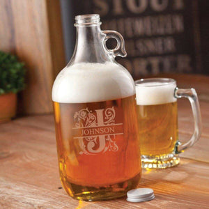 Personalized Growler - Beer - Glass - 64 oz. | JDS