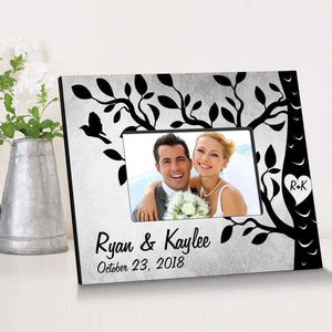Personalized Etchings On The Tree Wooden Picture Frame | JDS