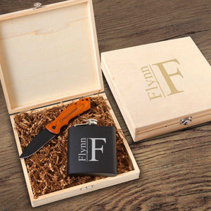 Personalized Edinburgh Groomsmen Flask Gift Box Set | JDS