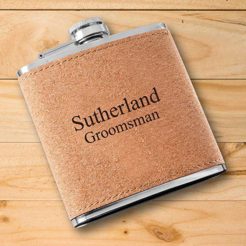 Personalized Flask - Cork | JDS